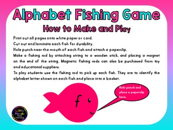 Alphabet Fishing Game -Uppercase and Lowercase Letters