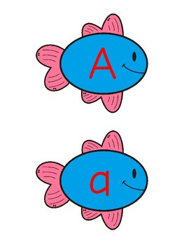 Alphabet Fishing Upper and Lower Case Match