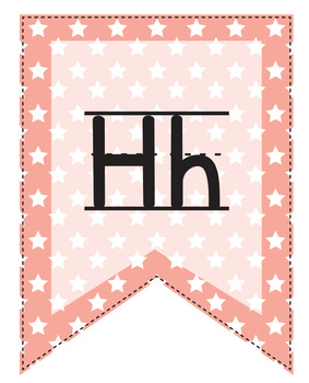 Alphabet Flags in Colors with Stitches and Patterns - Primary Penmanship