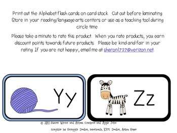 Alphabet Flash Cards and Recording Sheets for Pre-k and Kindergarten