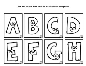 Kids Color Their Own Set of Alphabet Flash Cards