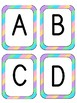 Alphabet Letter Flash Cards - Striped Theme