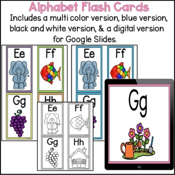Alphabet Cards Upper and lower case