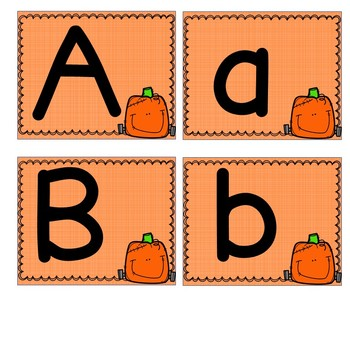 Alphabet Flash Cards Autumn Bundled Set