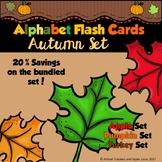 Alphabet Flash Cards Autumn Bundled Set