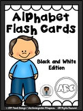 Phonics - Alphabet Flash Cards (Black and White Edition)