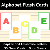 Alphabet Flash Cards - Capital and Lowercase Letters - by