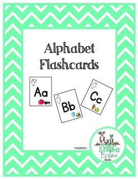 Alphabet Flash Cards - English