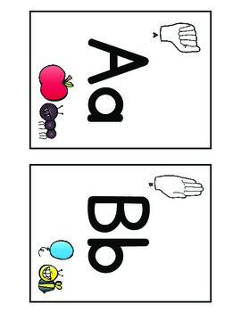 Alphabet Flash Cards - English
