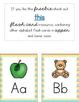 Alphabet Flash Cards FREEBIE!