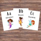 Alphabet Flash Cards - Fairy Cards - Pre-k/Kindergarten -