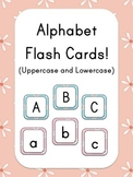 Alphabet Flash Cards - Flower Theme