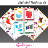 Alphabet Flash Cards Instant Download PDF; Preschool, Kind