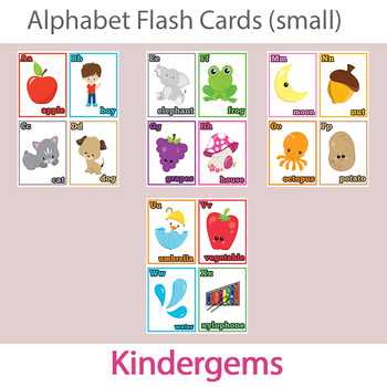 Alphabet Flash Cards; Kindergarten; Preschool; Homeschool; Literacy