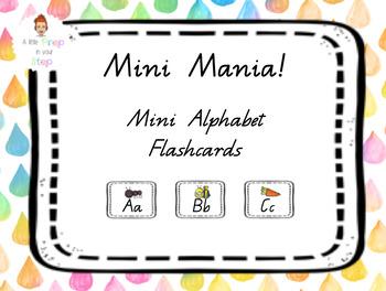 Alphabet Flash Cards Mini Queensland Font