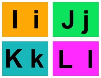 Alphabet Flash Cards - Orange/Green/Blue/Pink Deck