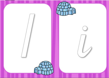 Alphabet Flash Cards / Play dough mats - Victorian Pre Cursive
