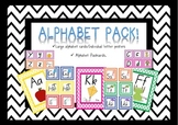 Alphabet Flash Cards & Posters - Foundation Font