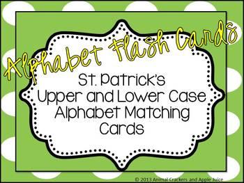 Alphabet Flash Cards St. Patricks Day