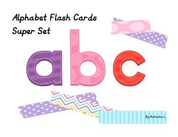 Alphabet Flash Cards Super Set