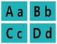 Alphabet Flash Cards - Teal