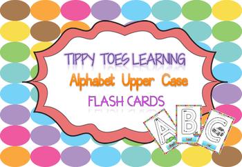 Alphabet Flash Cards (Upper Case) Play Dough Mats