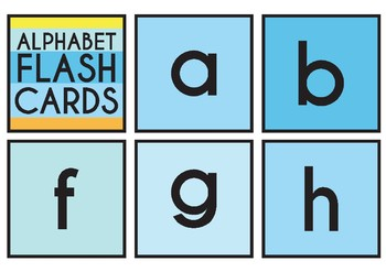 Alphabet Flash Cards Upper Case and Lower Case PLEASE RATE