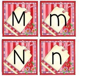 Alphabet Flash Cards Valentine Set