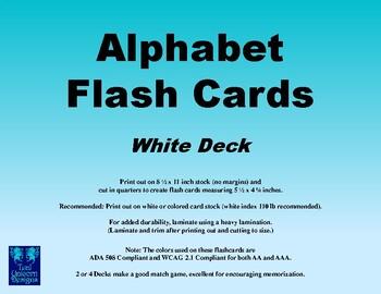 Alphabet Flash Cards - White