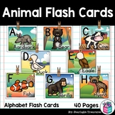 Alphabet Flash Cards for Early Readers - Animals FREEBIE