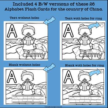 Alphabet Flash Cards for Early Readers - Country of China