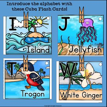Alphabet Flash Cards for Early Readers - Country of Cuba