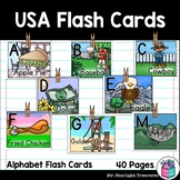 Alphabet Flash Cards for Early Readers - United States of America