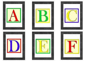 Alphabet Flash Cards for PreK-K