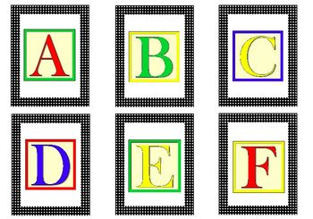 Alphabet Flash Cards for PreK-K