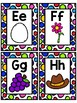 Alphabet Flash Cards with Pictures: Capital and Lowercase Letters Included