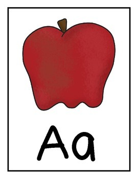 Alphabet Flash Cards with Student Alphabet Chart