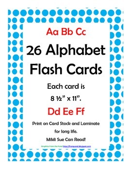 Alphabet Flash Cards/Bulletin Board Signs  (Bright Blue Do