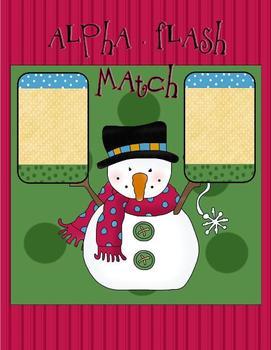 Alphabet Flash Match (Snowman Theme)