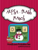 Alphabet Flash Match (Snowman Theme)