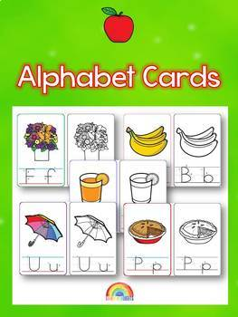 Alphabet / Flash cards / Word walls / ABC / Handwriting / Penmanship / Coloring