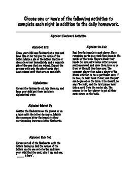 Alphabet Flashcard Activities