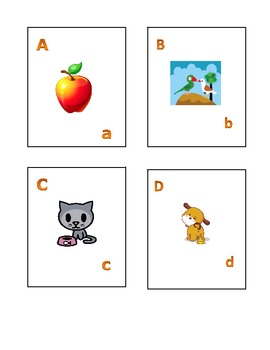 Alphabet Flashcard Activity