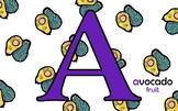 Alphabet Flashcard Example (ARTSY KIDS)