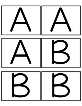 Alphabet Flashcard Games (Reading Centers)