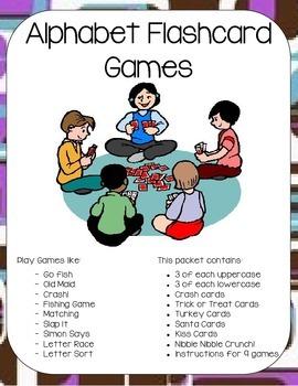 Alphabet Flashcard Games (Reading Centers)