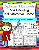 Alphabet Flashcard and Literacy Acitivites for Home