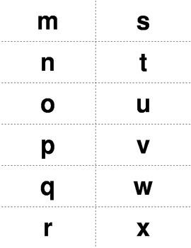 Alphabet Flashcards lowercase