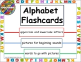 Alphabet letters and Beginning Sounds Flashcards