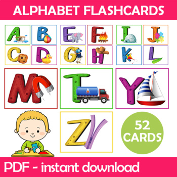Objects Alphabet Flashcards